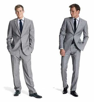 For a proper-fitting jacket, you should be able to fit a fist between your buttoned-up jacket and your chest. BAGGY SUITS ARE SO LAST YEAR
