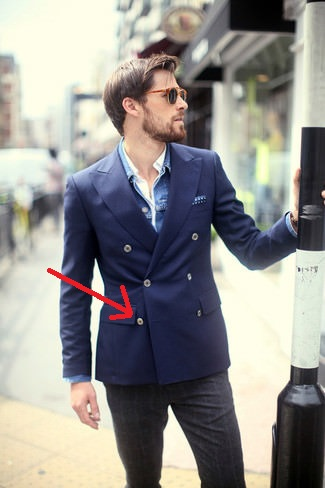 The bottom button of a double-breasted jacket should never be fastened