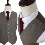 Brown Herringbone Tweed Suit
