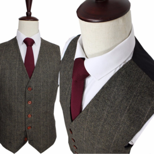 Dark Green Herrinbone Tweed suit