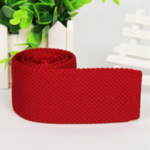 red luxury knitted tie