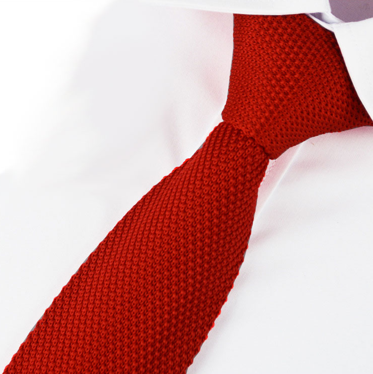 Red Knitted Tie