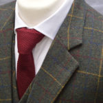 Gentlemen's Green Overcheck Tweed Suit