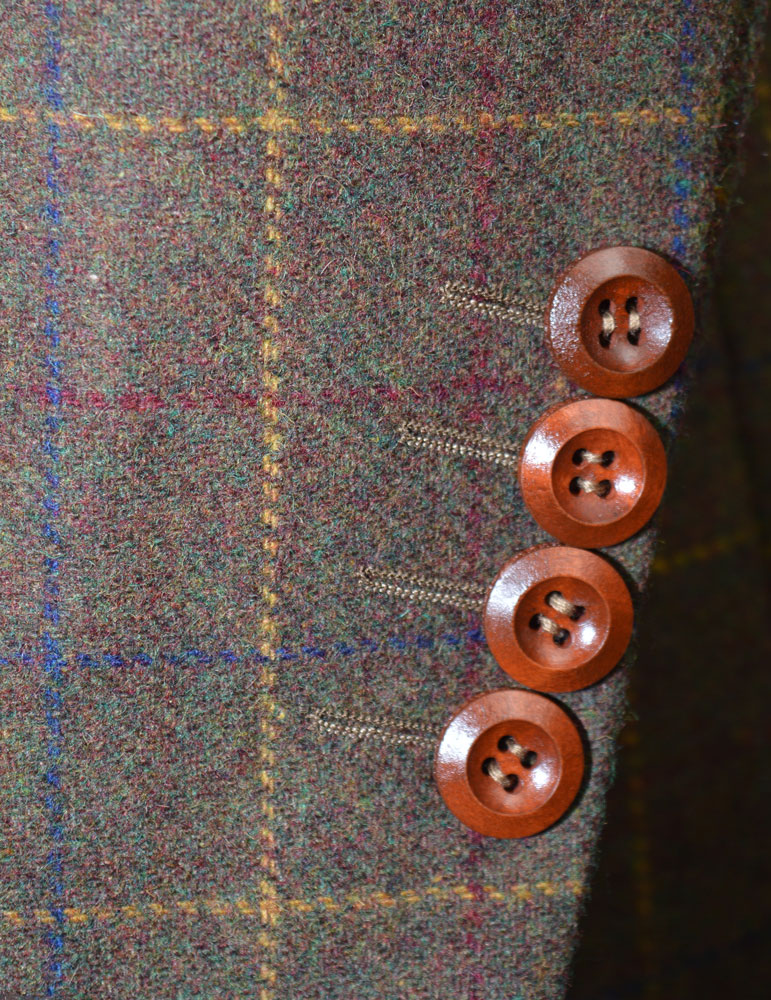 Gentlemen's Brown Overcheck tweed Suit