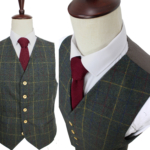 Green Plaid Tweed Suit