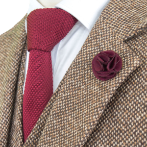 Brown Wood House Barleycorn Tweed Suit