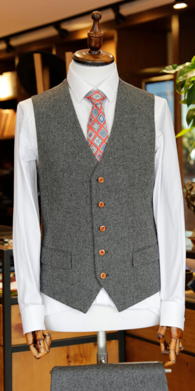 Grey Classic Barleycorn Tweed Suit 4.78 out of 5