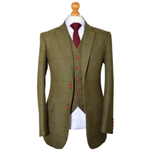 Heritage Country Green Plaid Tweed Suit