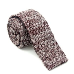 Dark Brown Luxury Silk Woven Tie