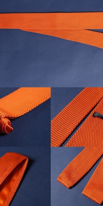 Orange Luxury Knitted Tie