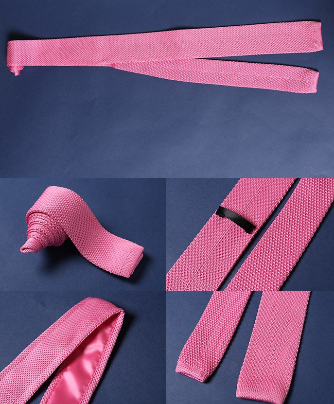 Pink Luxury Knitted Tie