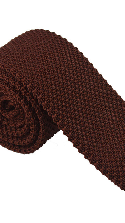 Dark Brown Luxury Knitted Tie