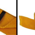 Yellow Luxury Knitted Tie