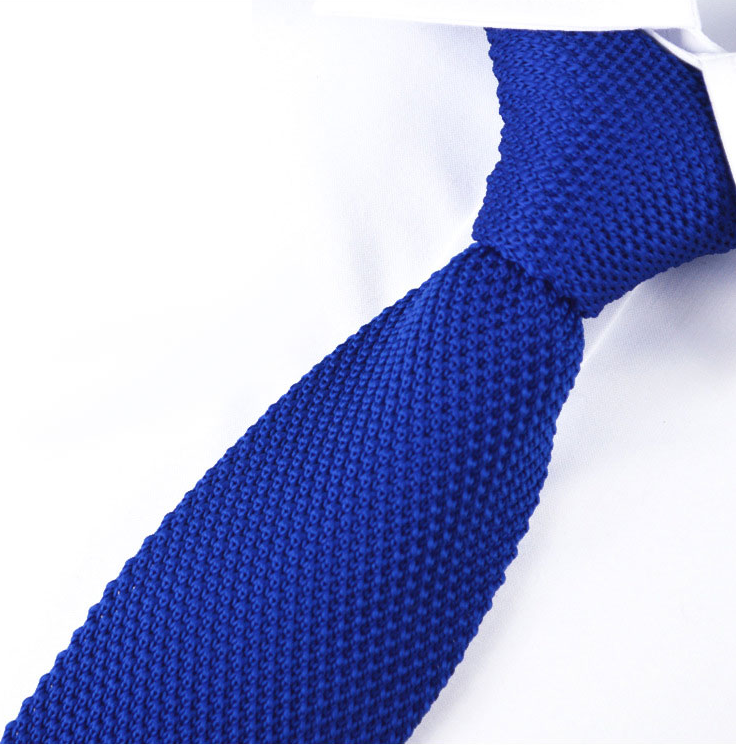 Royal Blue Luxury Knitted Tie