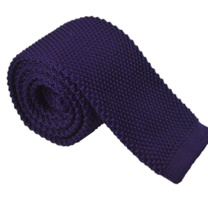 Royal Purple Luxury Knitted Tie