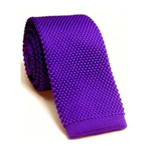 Bright Purple Luxury Knitted Tie