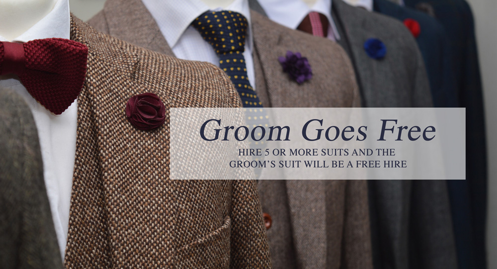 Free Groom Suit Hire