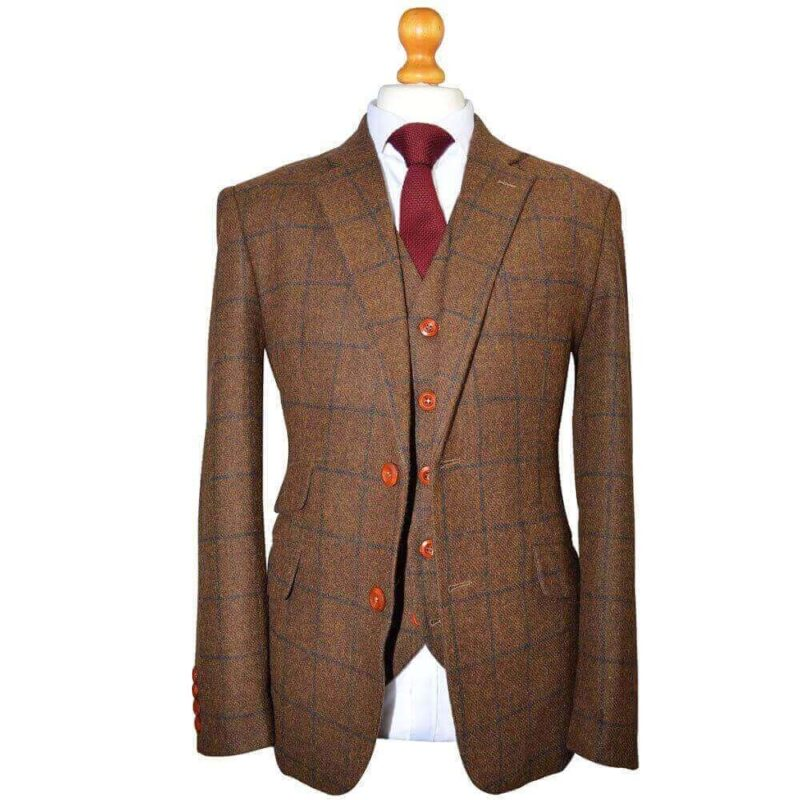 Heritage Country Brown Plaid Tweed Suit