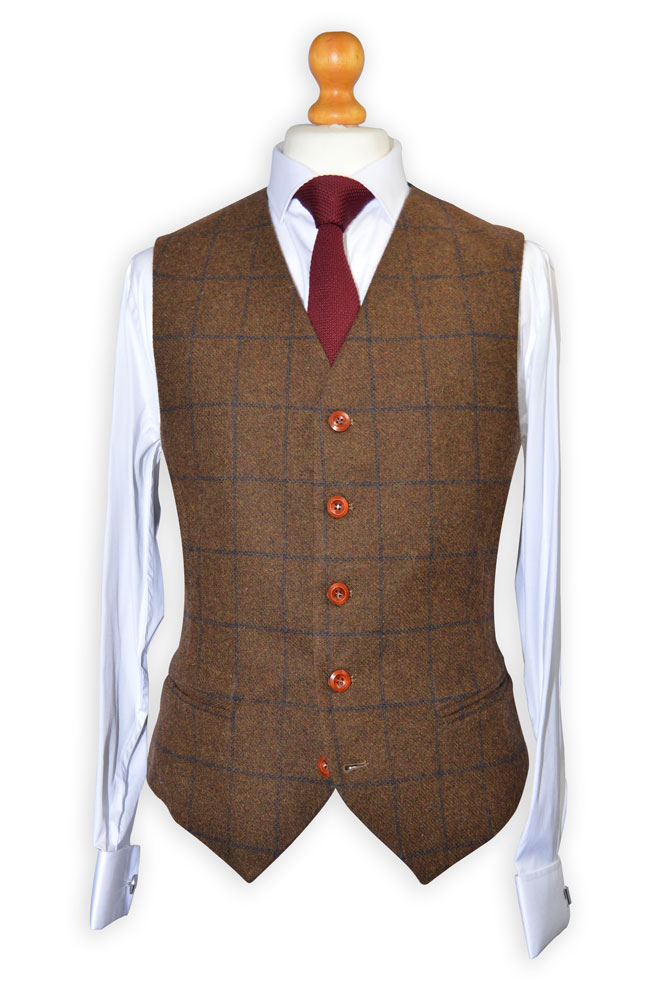 Heritage Brown Tweed Suit