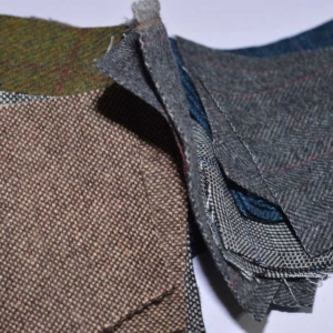 Tweed fabric sample
