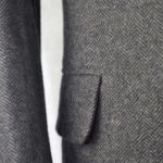 Classic Charcoal Herringbone Tweed Suit