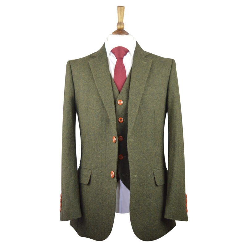 Green Classic Barleycorn Tweed