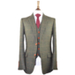 Autumn Green Windowpane Tweed