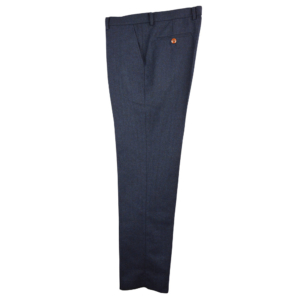 Classic Navy Herringbone Tweed Trousers