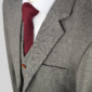 Classic Grey Herringbone Tweed Suit