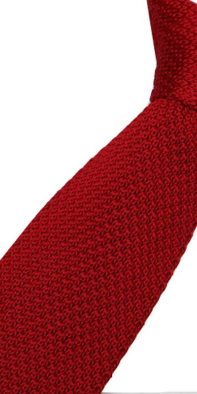 Dark Red Luxury Knitted Tie