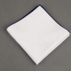 Plain White Cotton Pocket Square