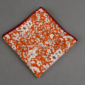 Dark Orange Floral Printed Cotton Pocket Square
