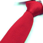 Crimson Red Luxury Knitted Tie