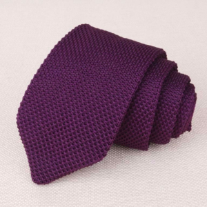 Standard Cut Royal Purple Luxury Knitted Tie