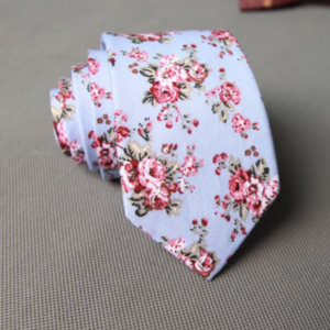Tiffany Blue Rose Floral Tie