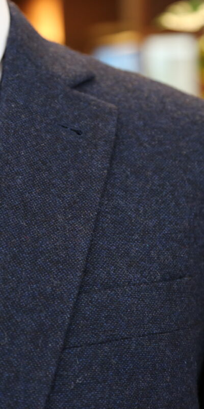 Cheshire Navy Barleycorn Tweed Suit