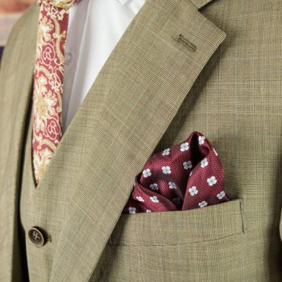 Brown Prince of Wales Worsted Wool Suit