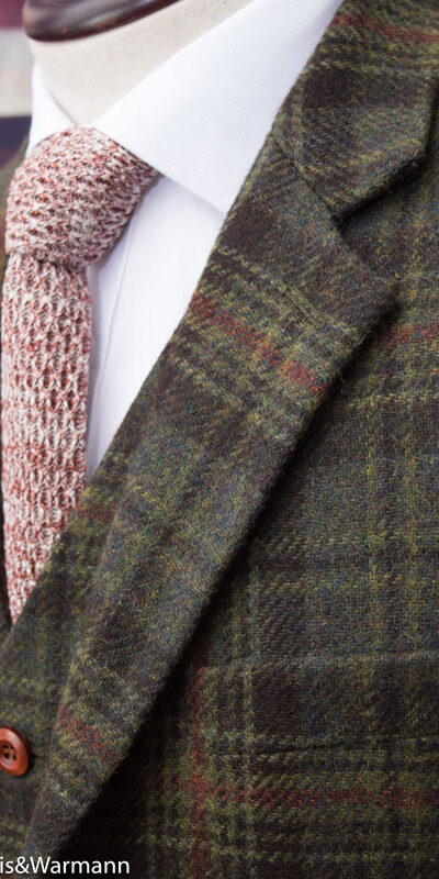 Knight of York Green Tartan Tweed Suit