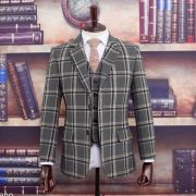 Mayor of Edinburgh Grey Tartan Tweed Suit