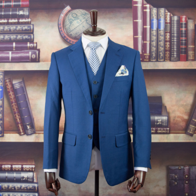 Empire Blue Worsted Wool Suit