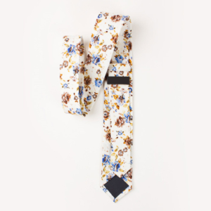 Muddy Brown Rose Floral Cotton tie