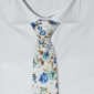 Oriental Blue Rose Floral Cotton Tie
