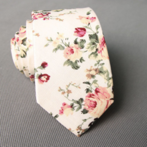 Rosa Moschata Floral Cotton Tie