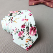 Tiffany Green Floral Cotton Tie