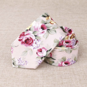 Rose Petal Pink Floral Cotton Tie