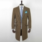 Light Brown Classic Herringbone Tweed Overcoat