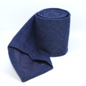 Cheshire Navy Barleycorn Tweed Tie