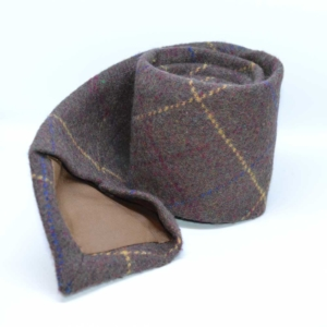 Gent's Brown Overcheck Tweed Tie