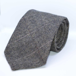 Army Green Herringbone Tweed Tie