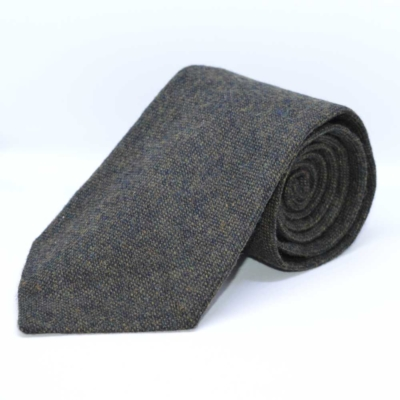 Green Classic Barleycorn Tweed Tie